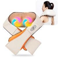 Electrical Back Neck Shoulder Massager U Shape Body Infrared 3D Kneading Massager Car Home Dual Use