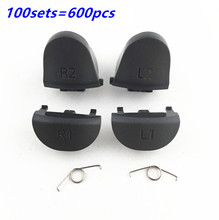 лучшая цена For Playstations 4 JDS 040 JDM 040 Controller Trigger Spring L1 R1 L2 R2 Repair Parts Buttons For PS4 Pro Triggers Button 100SET