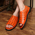 2015 Sandalia Gladiador Casuales de Cuero Zapatos Del Agujero Del Dedo Del Pie Abierto Gladiador Sandalias para Hombres Sandalia Gladiador Romano Sandalias Hombres Rojos