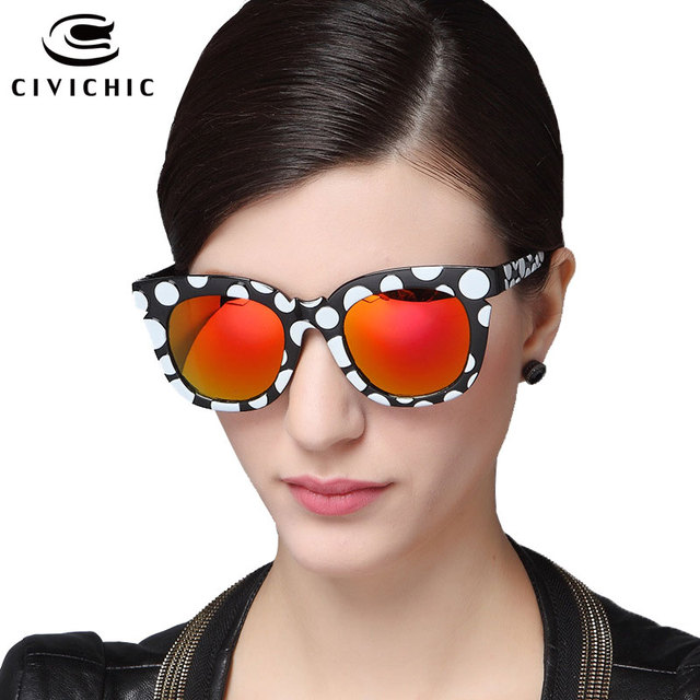 b5b4cbd5f8b CIVICHIC New Trend Unisex Colorful Sunglasses Retro Dots Design Eyewear  Driving Glasses Man Woman Metrosexual Mirror Gafas E135