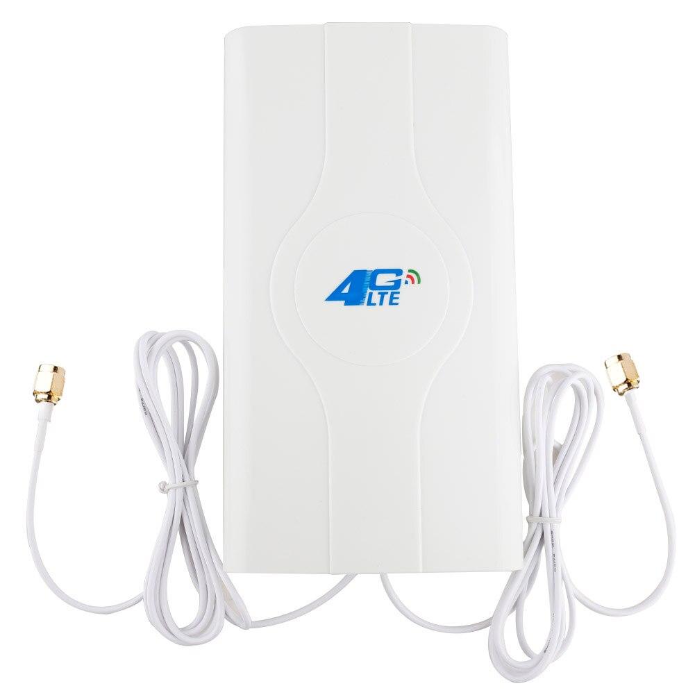 Antena móvel do painel do amplificador do sinal do impulsionador da antena de 88dbi 4g lte 2 * conector do sma-macho/ts9/crc9 com cabo de 2 m