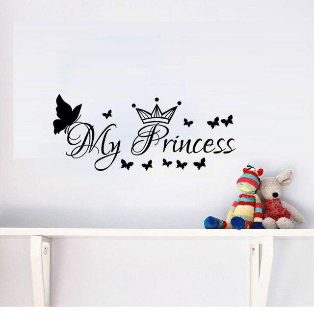 Mi Princesa Adhesivos De Pared Mariposas Y Corona Niñas Dormitorio