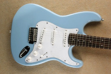 ST Electric Guitar Sky Blue 3S pickups rosewood Fingerboard Custom Guitar Free Shipping free shipping wholesale hot new factory custom shop zakk wylde bullseye emg pickups lp electric guitar in stock