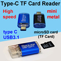 USB3.1 Type-C TF microSD Card reader micro SD TF high speed OTG adapter for macbook LeTV 2 pro max miaomi 4C type C mobile phone