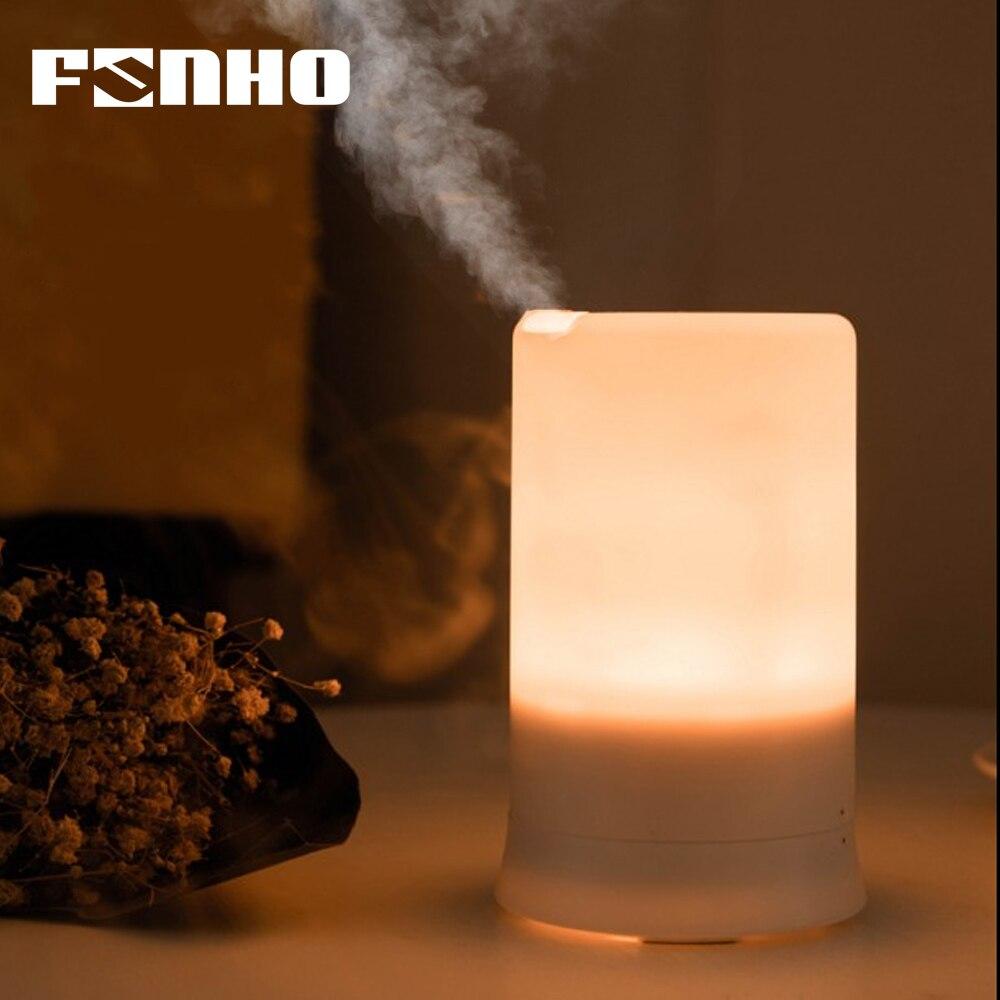 FUNHO Aria Ad Ultrasuoni Umidificatore del USB di Ricarica 5 di Colore Ha Condotto La Luce di Notte Aromaterapia Olio Essenziale Diffusore di Aroma Per La Casa 213