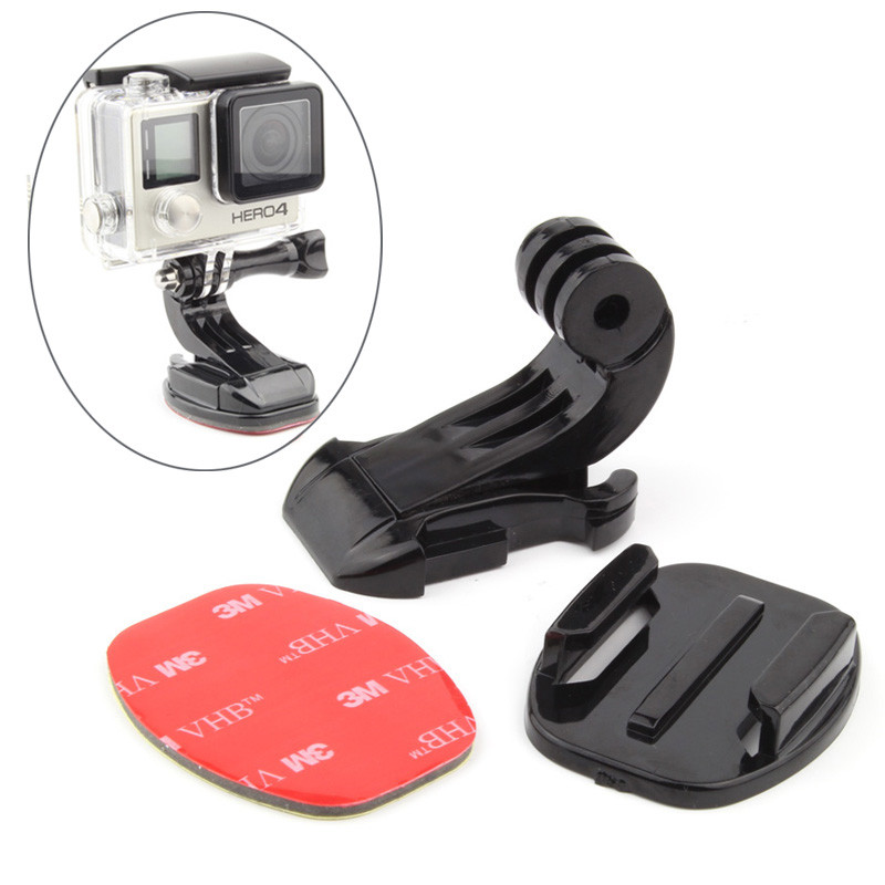 Buckle Vertical J Hook Surface Mount Adapter Sticker Flat Adhesive Mounts For GoPro Hero 7/6/5/4/3/3+/2/