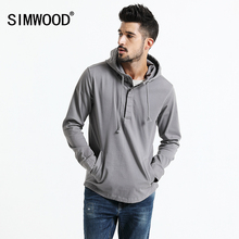 SIMWOOD 2017 Automne Nouvelle Veste À Capuche Hoodies Hommes Casual Manteaux De Mode Avant Pocket Slim Fit Plus Taille Haute Qualité JK017009