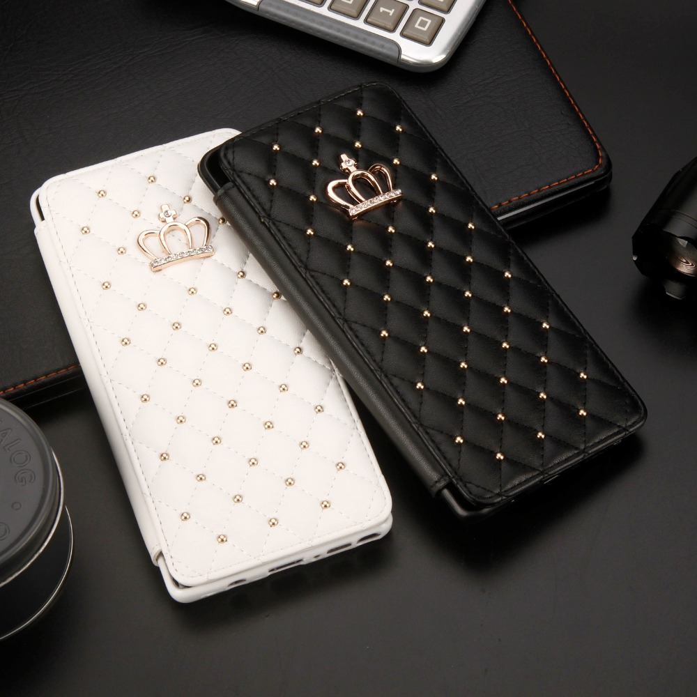 Leather Wallet Card Flip Cover For Samsung S7 EDGE S10 Lite S8 S9 Plus Luxury Crown flash drill Phone Case For Note 8 9 coqueLeather Wallet Card Flip Cover For Samsung S7 EDGE S10 Lite S8 S9 Plus Luxury Crown flash drill Phone Case For Note 8 9 coque