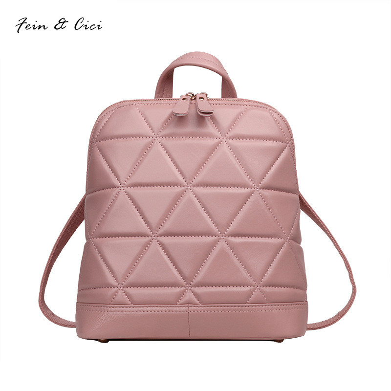 genuine leather Backpack women sheepskin Backpacks for teenage girls Mother Mumm 2017 new arriver black pink white beige