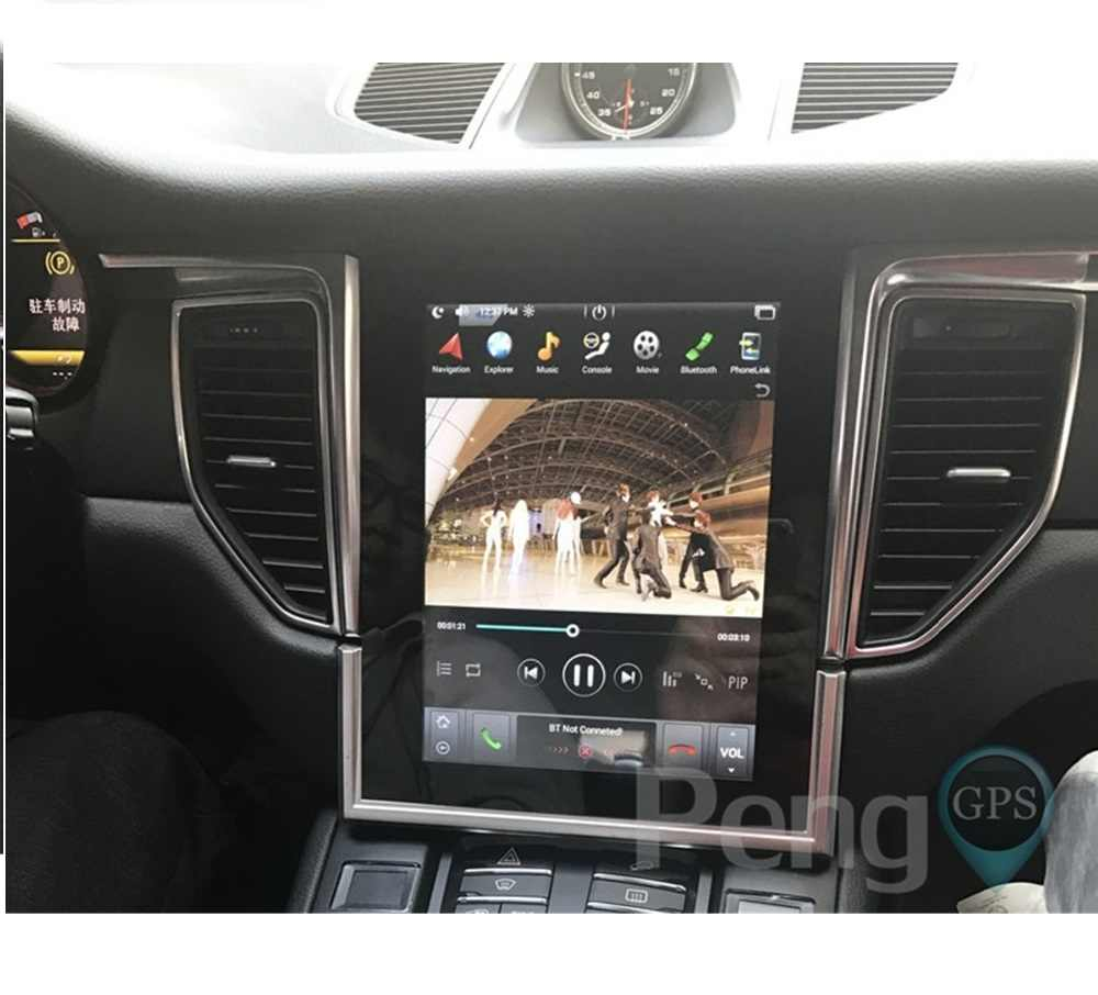テスラスタイル 10.4 インチの Ips スクリーン車の Gps ナビゲーション DVD プレーヤーポルシェ用 Macan 2017 2018 アンドロイド 6.0 ヘッドユニット