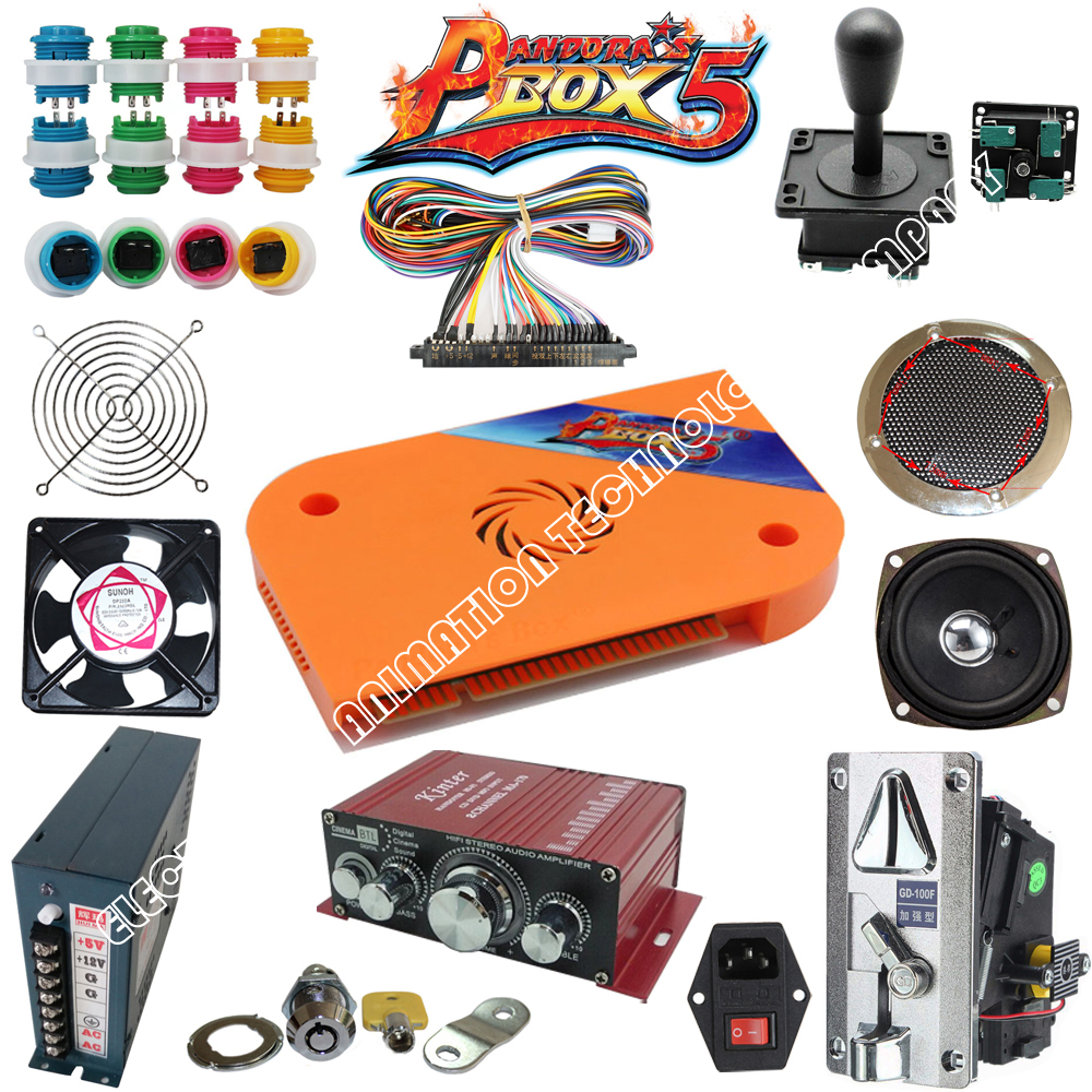 Arcade parts Bundles kit With 960 in 1 Pandora 39 s Box 5 LED Joystick American button Microswitch Jamma Harnes in Coin Operated Games from Sports amp Entertainment