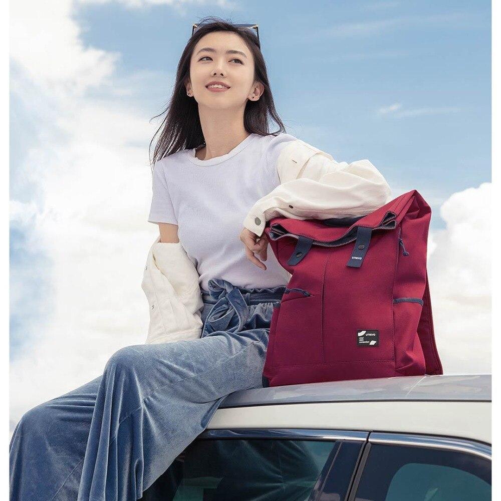 Xiaomi Urevo mochila Ipx4 repelente al agua 13L de gran capacidad mochila de las mujeres de los hombres de moda Casual 14/15 6 pulgadas bolso de la computadora - 5