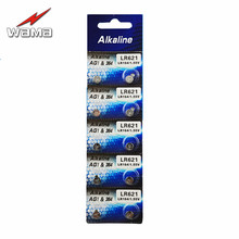 10pcs/pack Wama AG1 Button Cell Coin Battery LR621 364A SR621W LR60 1.5V Alkaline Watch Toys Remote Mercury Free Batteries 10pcs pack wama ag1 button cell coin battery lr621 364a sr621w lr60 1 5v alkaline watch toys remote mercury free batteries