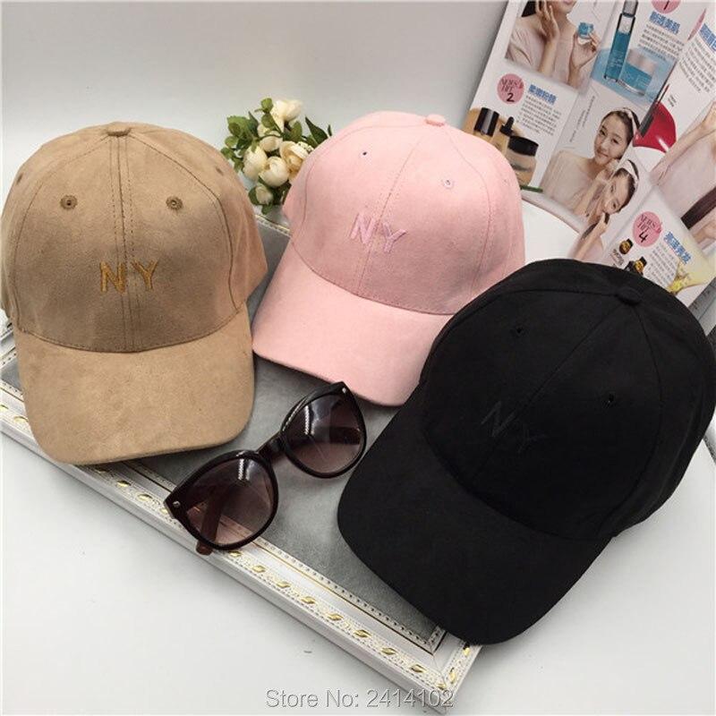 Prix pour Mode Réglable broderie NY En Daim chapeau 3 panneau casquette de baseball Strapback Casquettes De Camionneur sunbonnet Occasionnel casquettes Pour Femmes homme