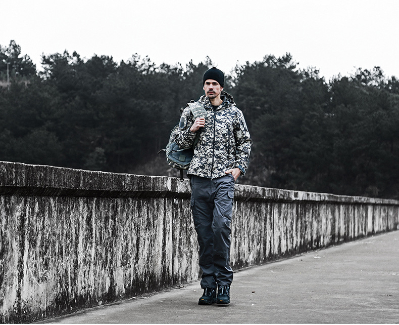água caminhadas jaquetas calças acampamento camuflagem com capuz roupas do exército camo