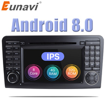 Eunavi 2 Din Android 8.0 WiFi GPS Navi Octa 8 Core Blotooth Stereo Car DVD Player For Benz ML CLASS W164 ML300 ML350 ML450 ML500