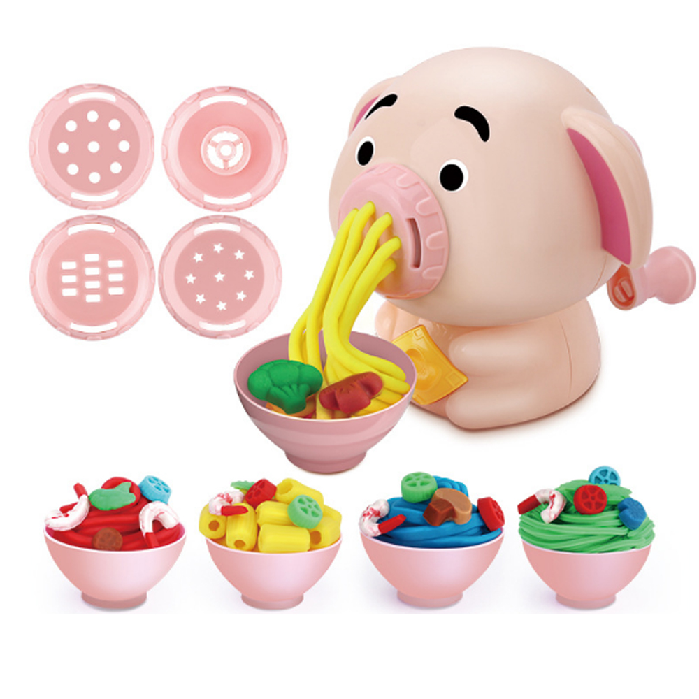 Noodles Maker Ice Cream Machine Clay Mold Tool Set Creative 3D Mud Handmade Nontoxic Clay Pretend Play Cartoon Dough Toys