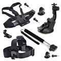Action Outdoor Sport kits Head strap Chest strap Car Mount+Monopod Accessories for Gopro hero5 session black silver hero4 3+