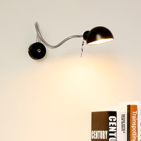RH loft wall lamp mechanical arm france Jielde wall lamp reminisced retractable double vintage,folding rod With Switch