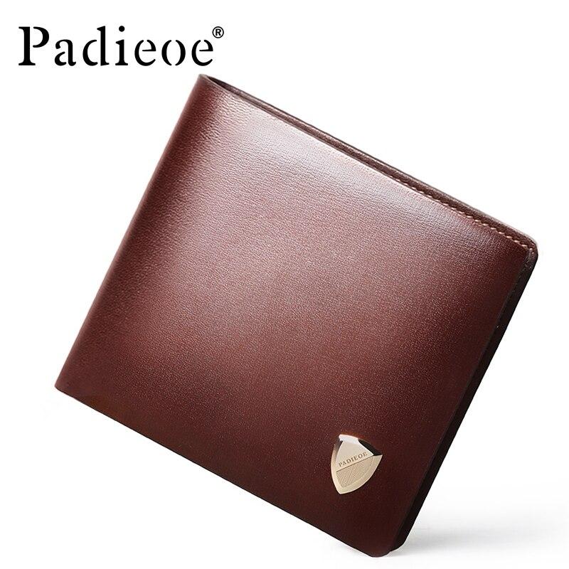 Padieoe 100% Véritable portefeuille en cuir Femmes De Mode portefeuilles et porte-monnaie Nouveau Designer petit portefeuille sac à main de luxe Femelle Titulaire de la Carte