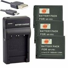 DSTE 3pcs NP FR1 Battery Case Protector UDC02 USB Charger for Sony DSC P100 L DSC