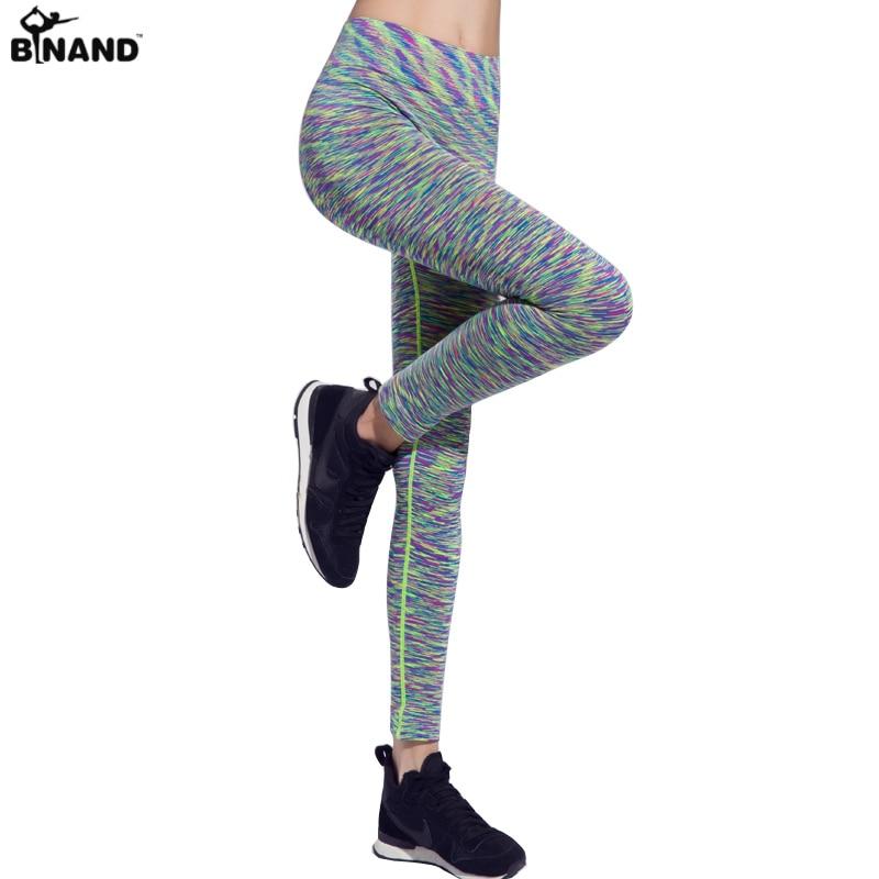 Prix pour Été multicolore femmes de gym fitness sport crayon pantalon femmes sexy slim fit tight yoga workout pants courir leggings pantalon