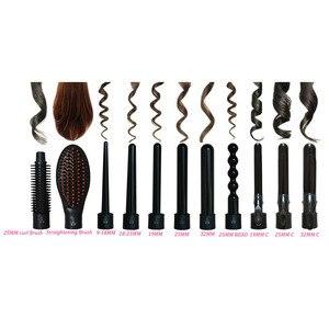 Image 2 - KIPAPA 5 P Curling Eisen Haar Curler 9 32 MM Berufs Locken Irons 0,35 zu 1,25 Zoll Keramik Styling werkzeuge Haar Tong Austauschbare