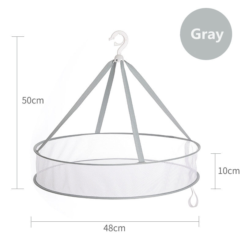 Multifunction Foldable Drying Racks Mesh Clothes Basket Windproof Laundry Storage Organizer Sweater Underwear Bra Hanging Basket in Drying Racks Nets from Home Garden