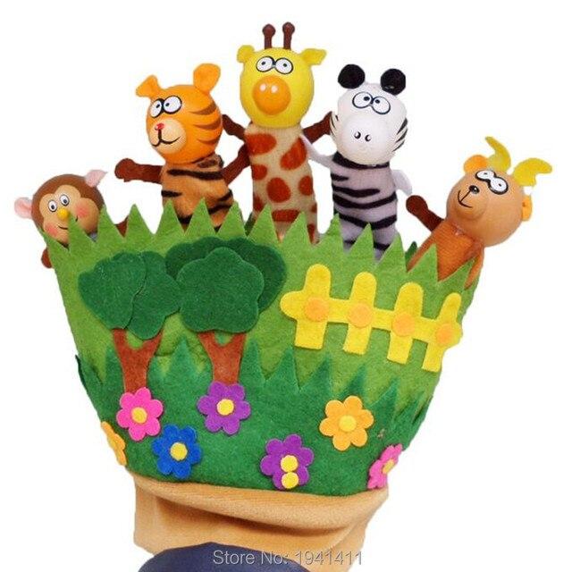 Горячие продажи перчатки ребенка родитель-ребенок животного игрушки рассказ хороший помощник вуди Палец куклы brinquedos фигура действий