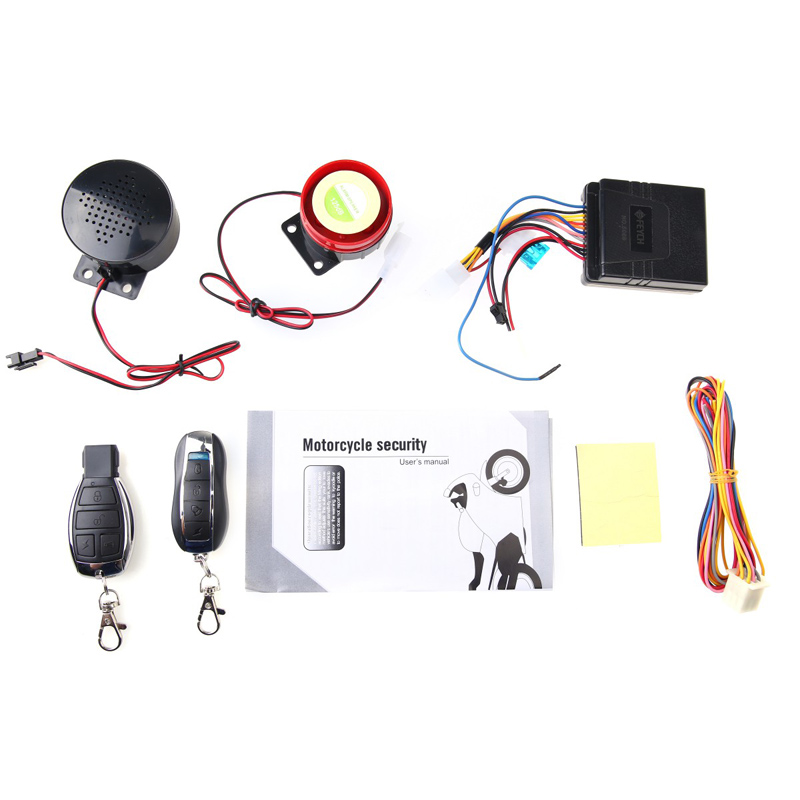 New Arrival Motorcycle Motorbike Scooter Anti-theft Security Remote Voice Alarm Double Horn LCC77 2 way lcd motorcycle alarm system motorbike anti theft security theft protection 3500m monitoring range remote engine start