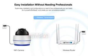 Image 4 - HD 5MP כיפת IP מצלמה Sony335 WiFi PTZ 5X אופטי זום טלוויזיה במעגל סגור מעקב וידאו מצלמה 128G SD כרטיס מיקרופון להקליט קול Onvif