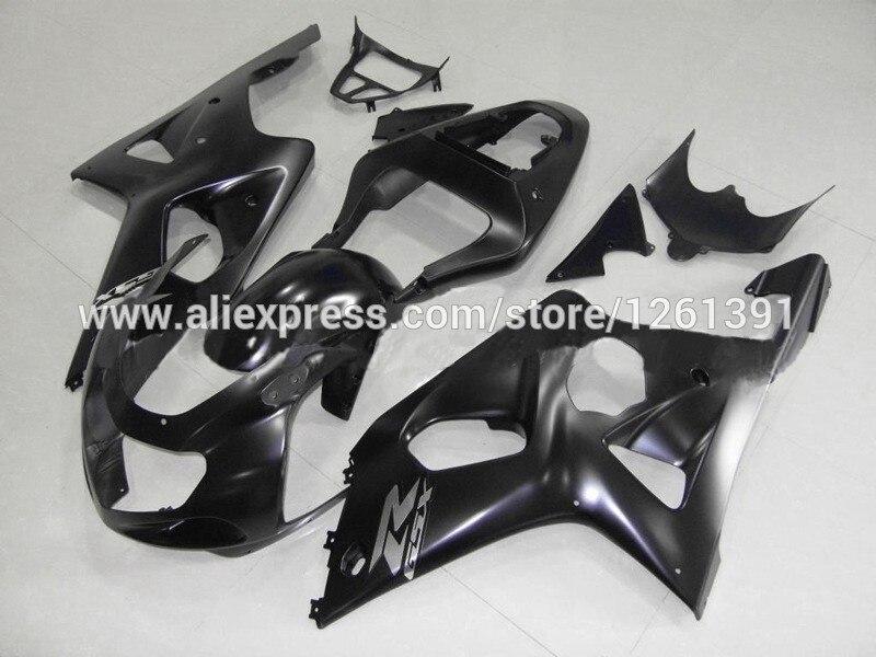 Подходит инъекции матовый черный обтекатель комплект для SUZUKI GSX-R1000 GSXR1000 GSX R1000 GSXR 1000 K2 K1 00 01 02 2000 2001 2002 обтекатель