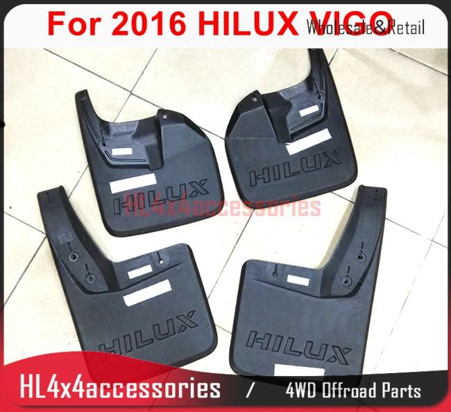 4pcs set for TOYOTA HILUX VIGO REVO fender flare mudguard 2009 Mudflap car trim splash guard