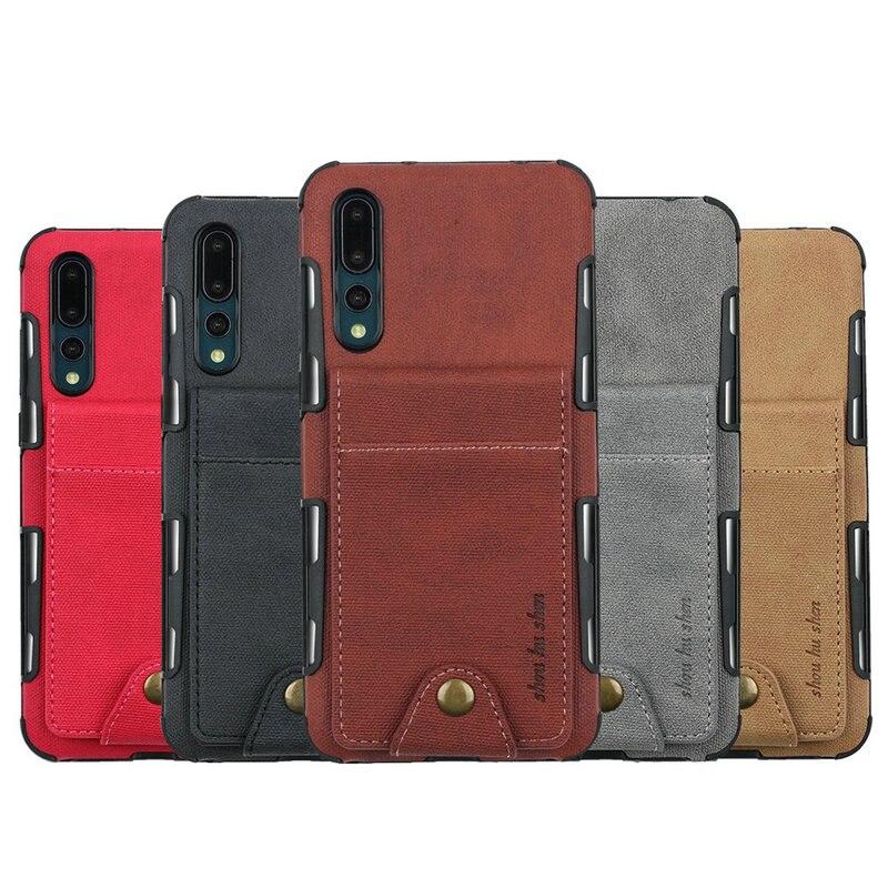 Huawei P20 Pro Case Cloth Card Slot Funda Huawei P20 Lite Case P20Lite Cover for Huawei P20 Smartphone Case P20Pro P 20 20Lite