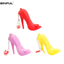 Creative Red High Heels Usb Stick Usb Flash Drive 4GB 8GB 16GB Silicone Cartoon Pen Drive 32GB 64GB 128GB High Speed Flash Disk cat paw style usb 2 0 flash drive disk red white 16gb