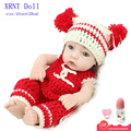 10 Inch Lovely Red Sweater Realistic Newborn Baby Doll Full Body Silicone Reborns Play Toy
