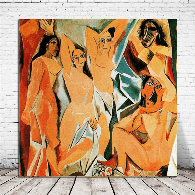 Pablo Picasso Avignon Girls Canvas Painting Print Living Room Home Decoration Modern Wall Art Oil Poster Salon Pictures