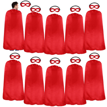 10 Packs SPECIAL Red Superhero Capes Mask Cosplay Clothing Christmas Adults Gifts Halloween Costume For Men