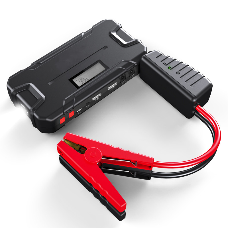 12000 mAh voiture saut démarreur batterie externe 600A démarrage dispositif Booster voiture batterie d'urgence batterie démarreur pour voiture batterie externe 12 v