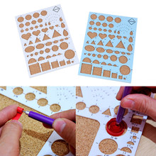 1PC Quiliing Corkboard Template Paper Quilling Tool Paper-scrolling Filigree Mosaic Quilling Decoration Card DIY Carft Paper(China)
