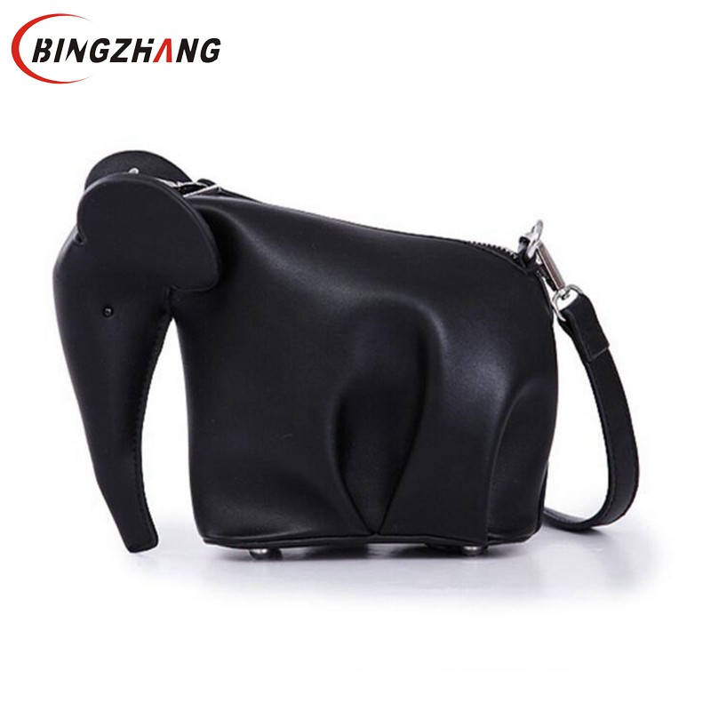 Women Leather Handbags Casual Cross Body Elephant Shaped