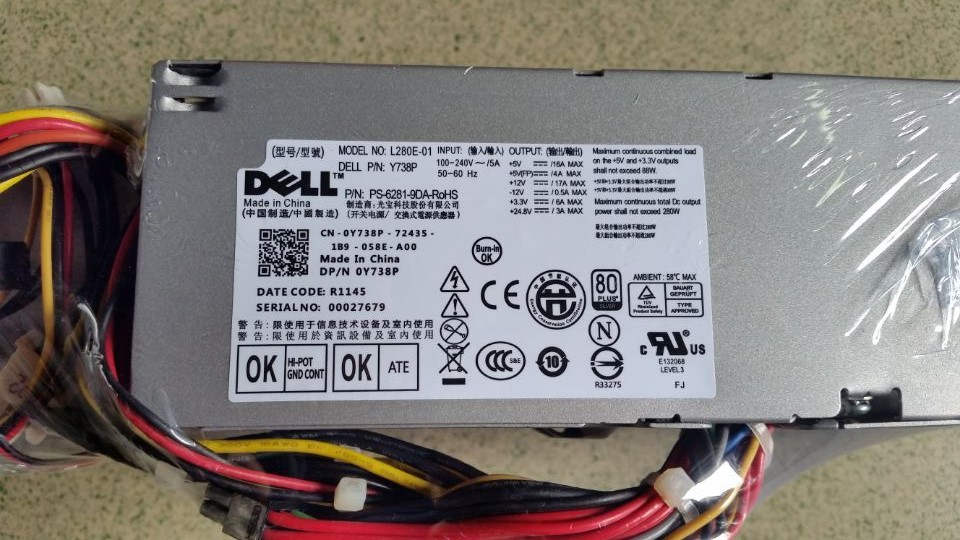 Free shipping authentic for DELL GX520 GX620 GX745 GX330 C521 original power supply H220P-00 L280P-01Free shipping authentic for DELL GX520 GX620 GX745 GX330 C521 original power supply H220P-00 L280P-01