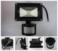 Wholesale 10PCS PIR LED Floodlight 20W Motion Sensor floodlights Water Proof AC85 256V Power Saving Free Shipping