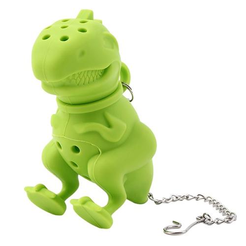 Dinosaur Tea Infuser Loose Leaf Strainer Herbal Silicone Filter Diffuser (Green)