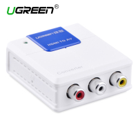 Ugreen 1080P HDMI to RCA Audio Video AV CVBS Adapter Support HD For HD HDMI 3RCa AV Converter BOX For TV PC PS3 VCR DVD PAL