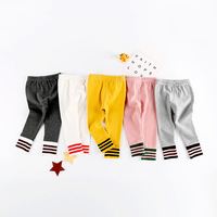 Hote Sale 2018 Spring New Cotton Toddler Baby Girls Leggings Cute Slim Trousers For Boys Pants