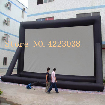 Free shipping 12m*7m Inflatable Mega Movie Screen Inflatable Outdoor Projector Screen - Movie TV or Music Fun