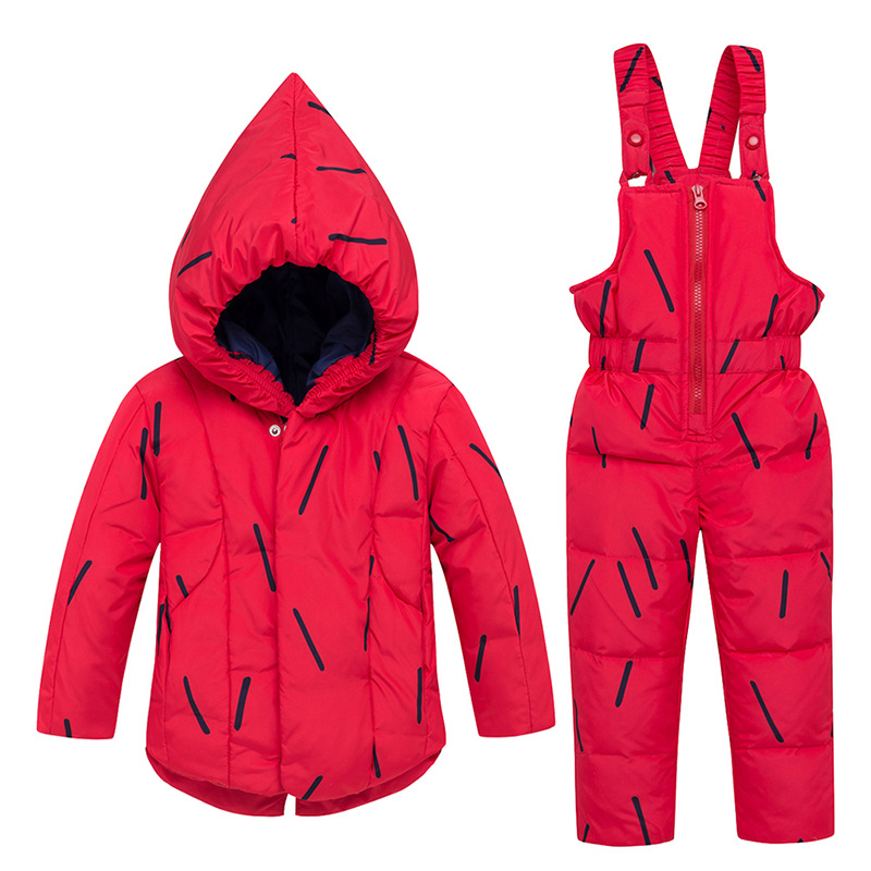 HYLKIDHUOSE 2018 Winter Baby Girl Clothing Sets Infant Outdoor Clothes Suits Warm White Duck Down Coats Pants Children Costume hylkidhuose children winter clothes suits baby girls boys clothing sets thicken duck down coats bib pants windproof kids costume