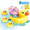 6 pedazos Del Bebé de Natación Juguetes squeeze-sonando escarceos juguetes encantadores juguetes de baño agua pato animal de juguete