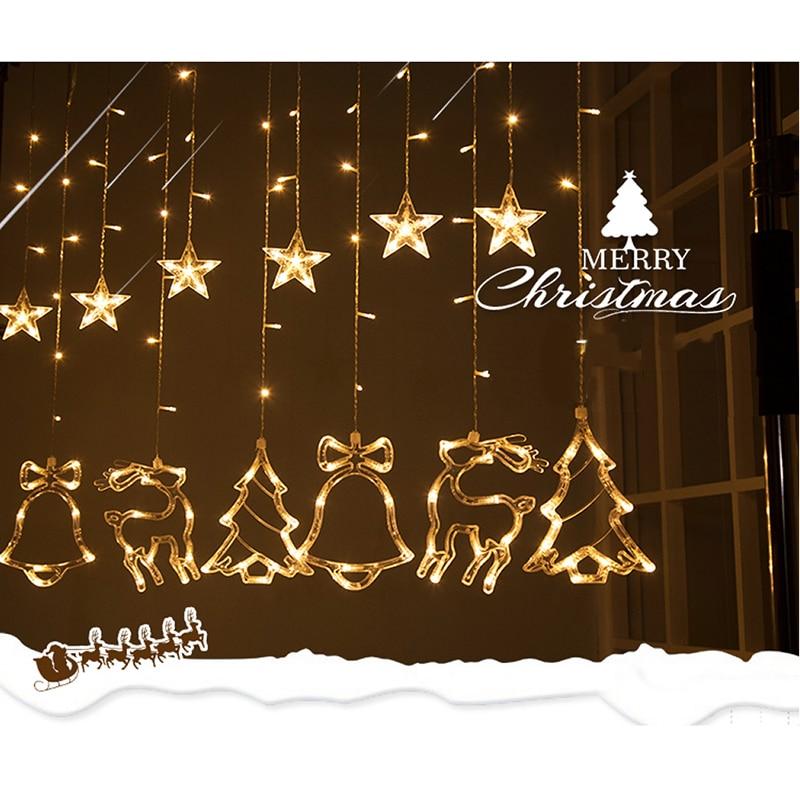 WoodPow 3M 12LED Holiday Party Ljusfönster Juldekoration Light - Festlig belysning - Foto 2
